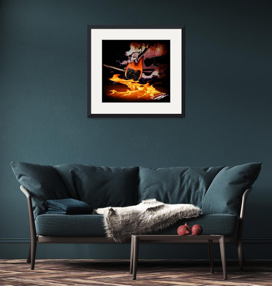 """""""Torched Marshmallow Abstract""""  (2012) by DavidHensenPhotography"""