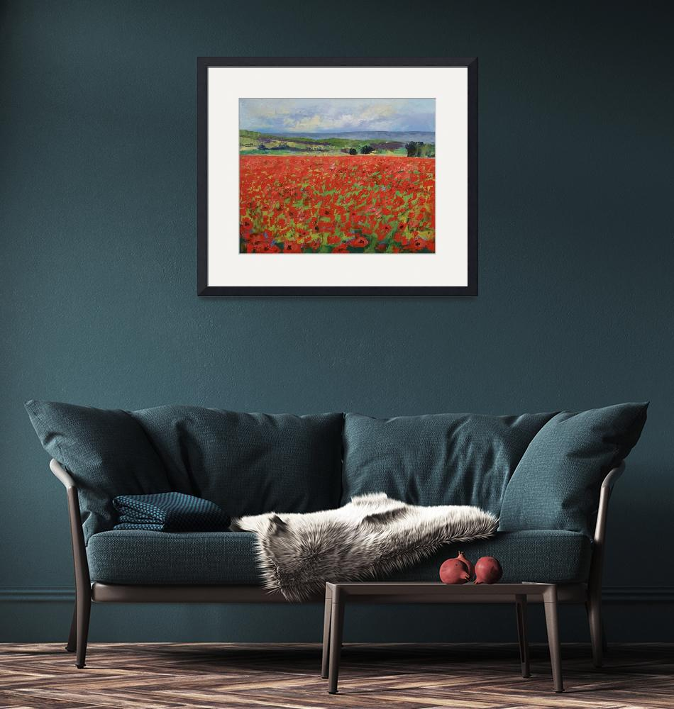"""""""Red Oriental Poppies""""  by creese"""