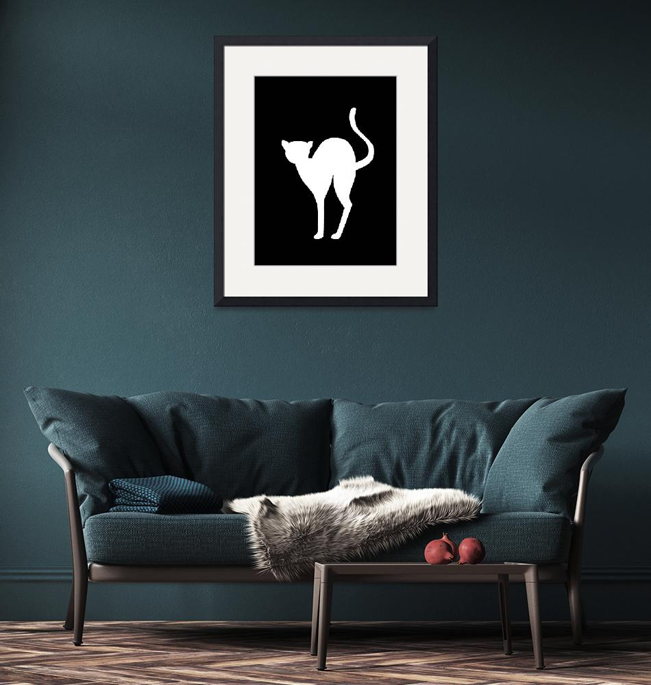 """""""Cat Silhouette""""  (2009) by Alvimann"""