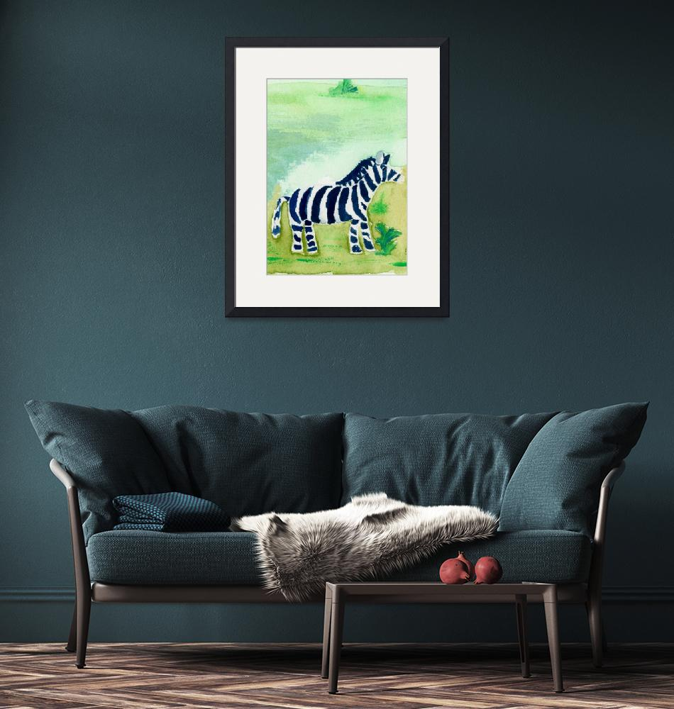 """""""Baby Zebra Friend""""  (2007) by theparables"""