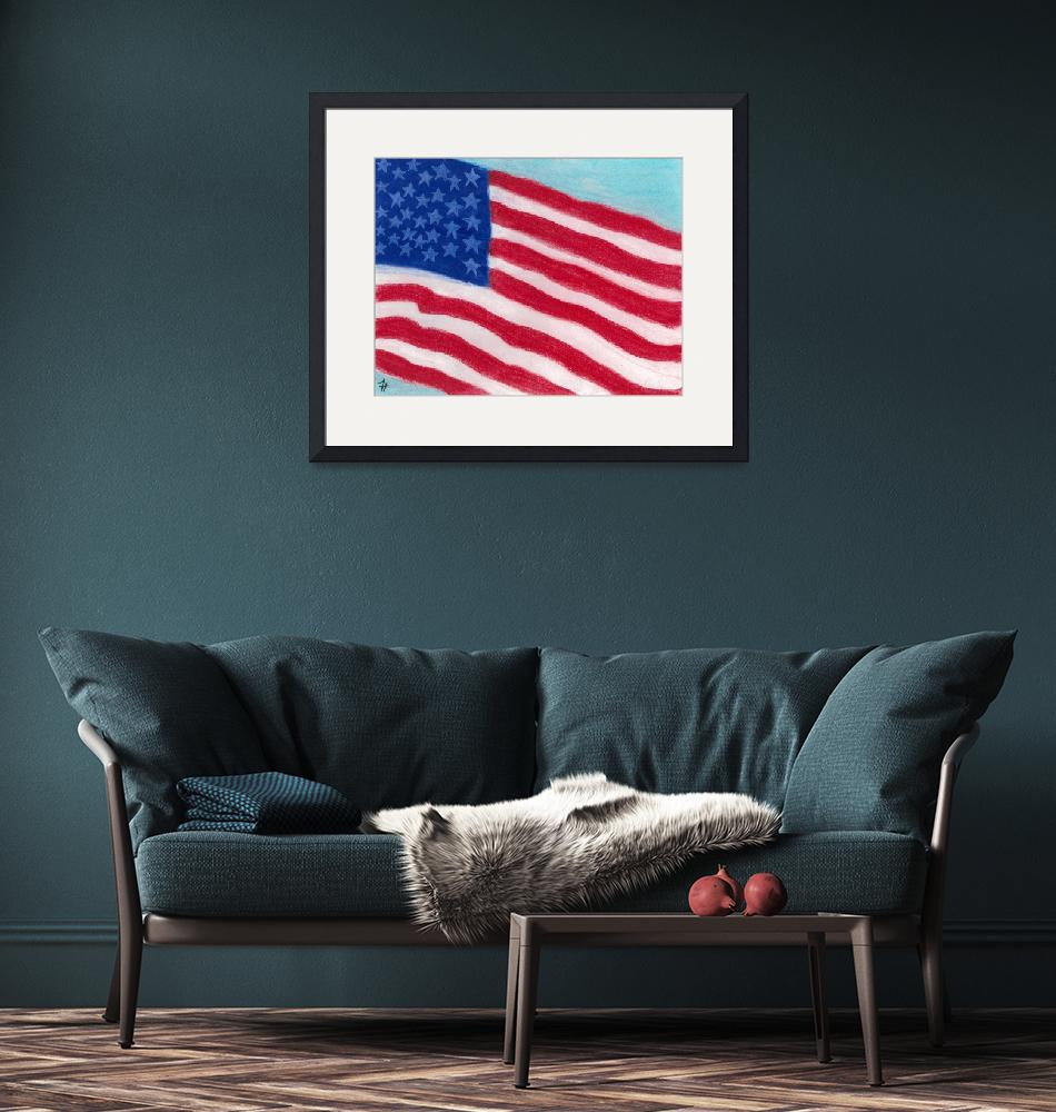 """""""United States Flag""""  (2009) by fredtyre"""