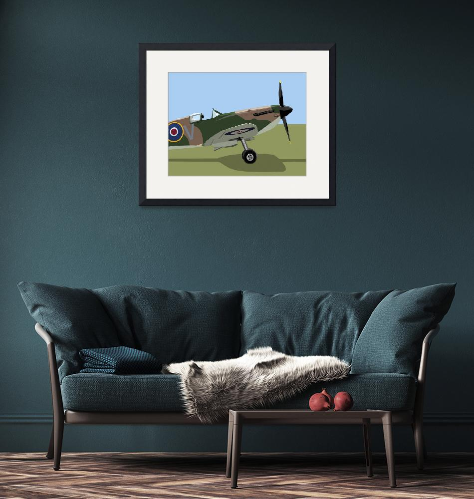 """Spitfire WWII Fighter""  (2010) by ModernArtPrints"