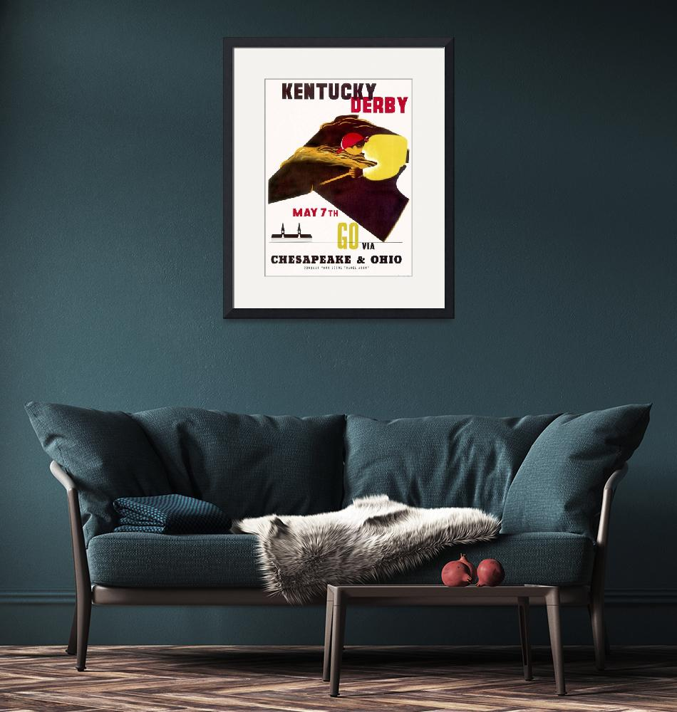 """""""Kentucky Derby Vintage Horse Racing Poster""""  by FineArtClassics"""