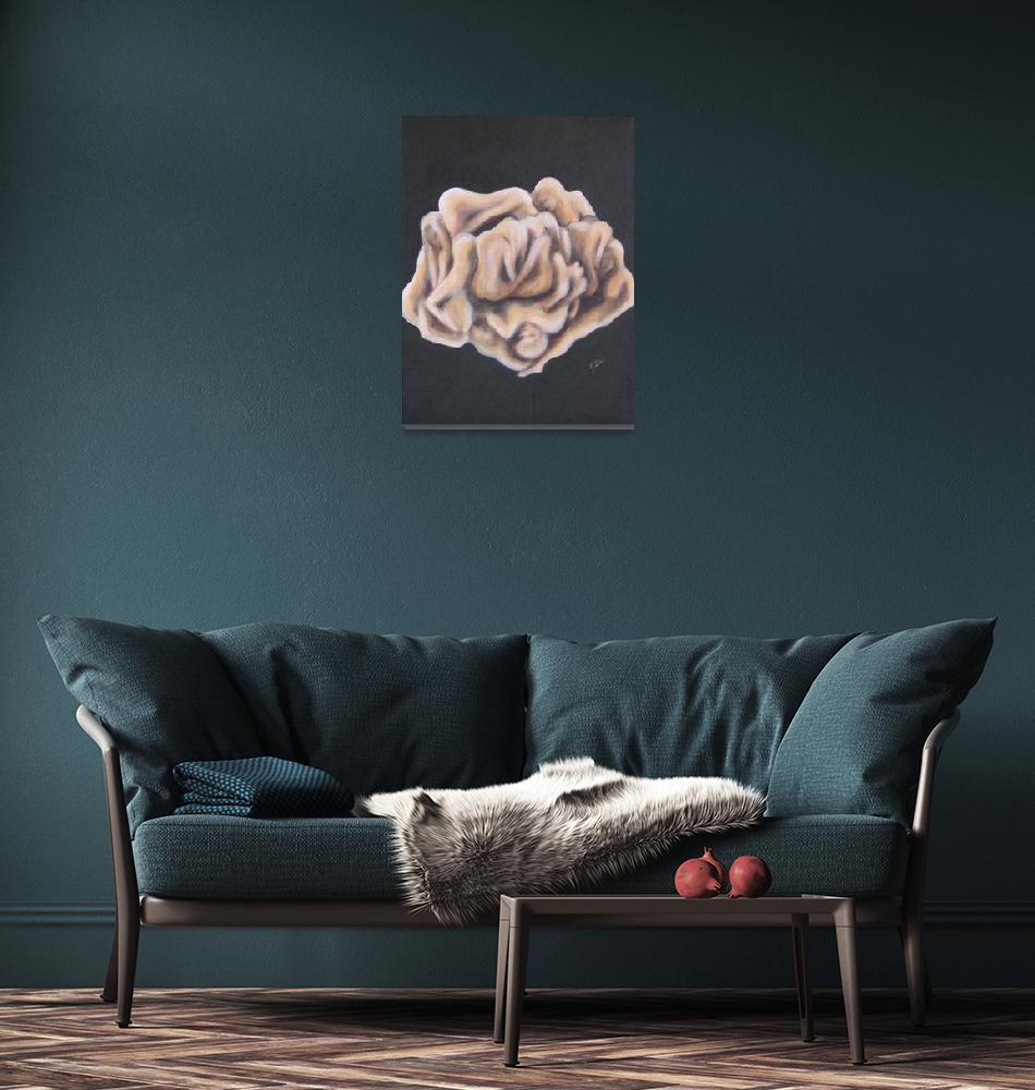 """""""Roses Many Petals, Acrylic 8 x 10""""  (2009) by jennygini"""