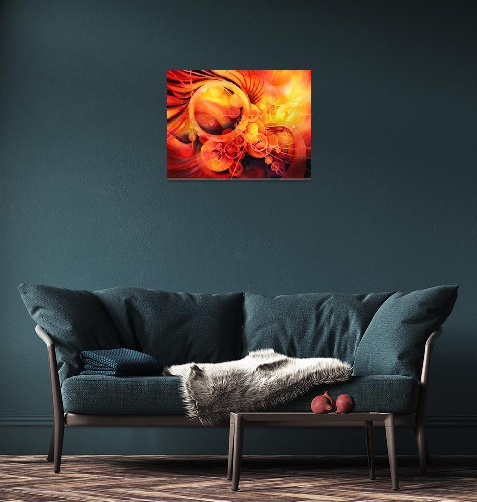"""Rebirth - Phoenix""  (2012) by HaileyWatermedia"