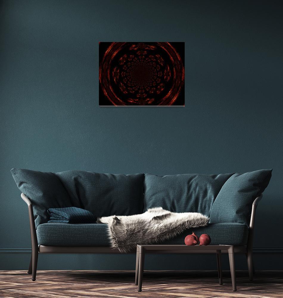 """Mandala of Gold and Black II""  by Atlantis-Seeker-Art"