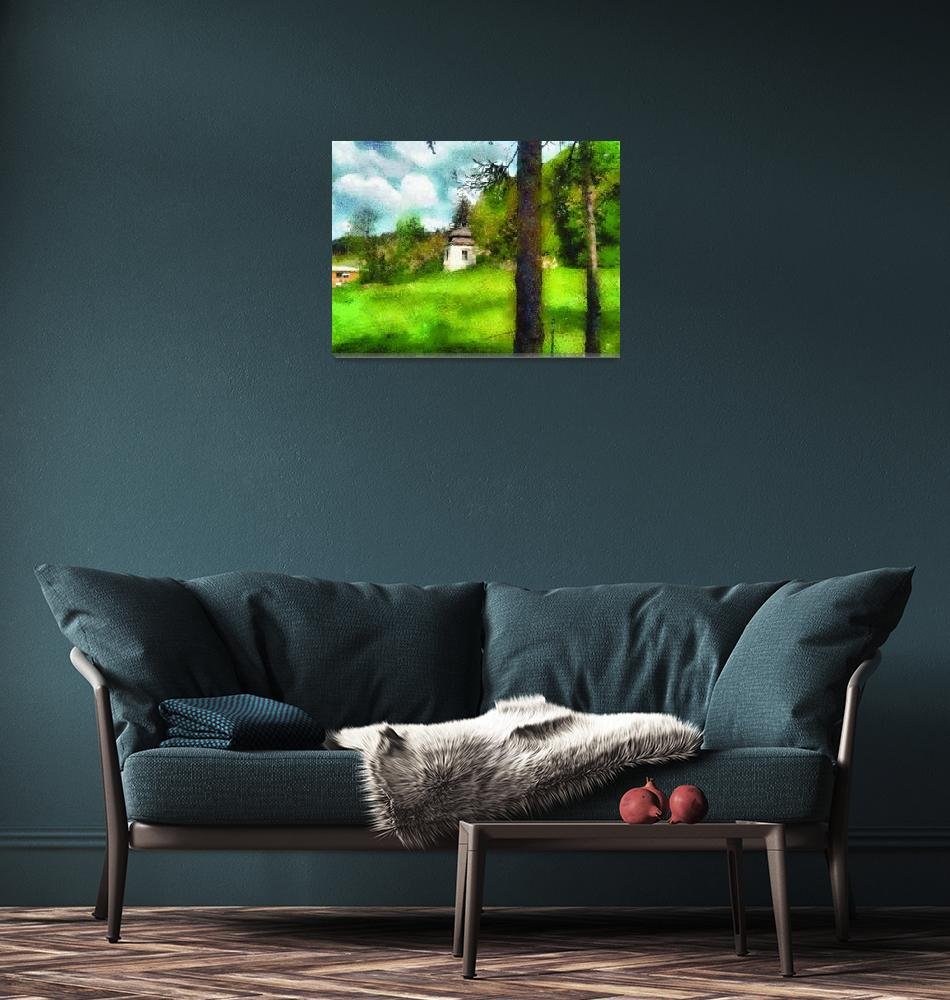 """green landscape""  by clickinart"