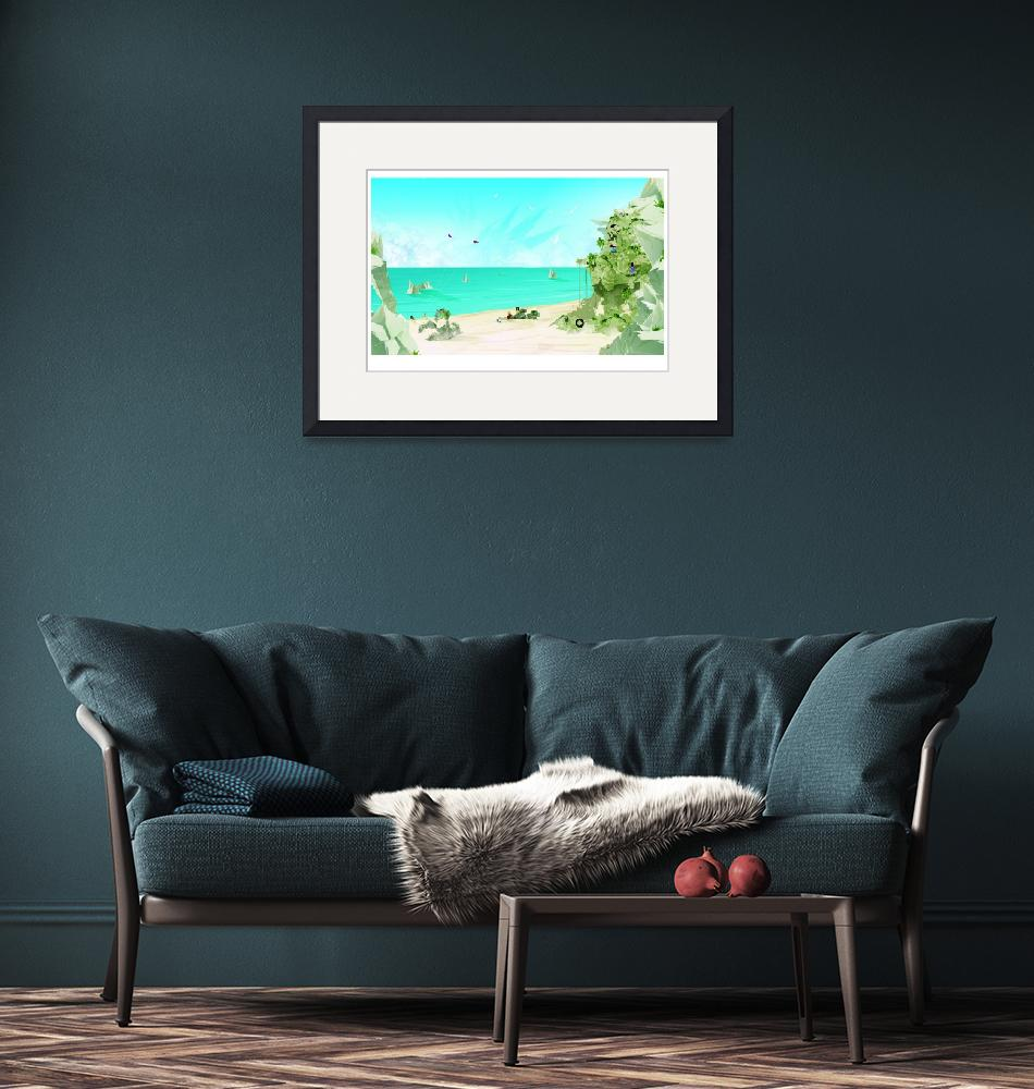 """""""Day at the Beach""""  (2011) by ChaseArtwork"""