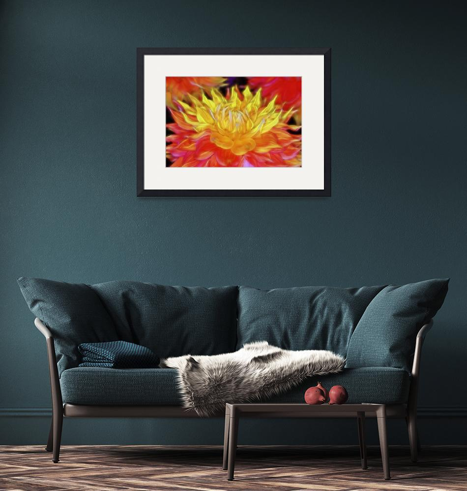 """Fire Dahlia""  (2015) by SoulfulPhotos"