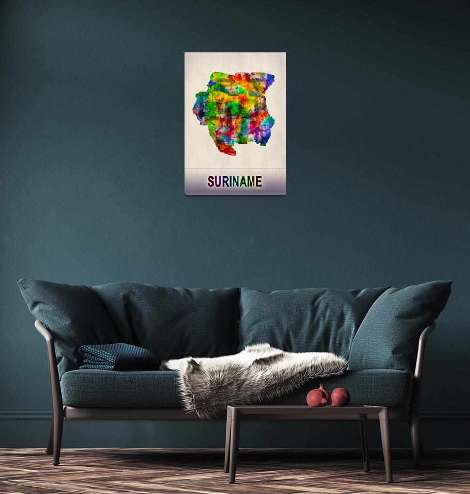 """""""Suriname Map""""  by Towseef"""