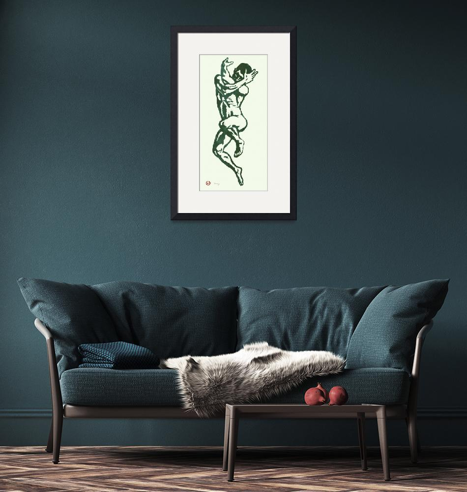 """""""gay etching style nude pop art  poster""""  (2014) by visualharbour"""