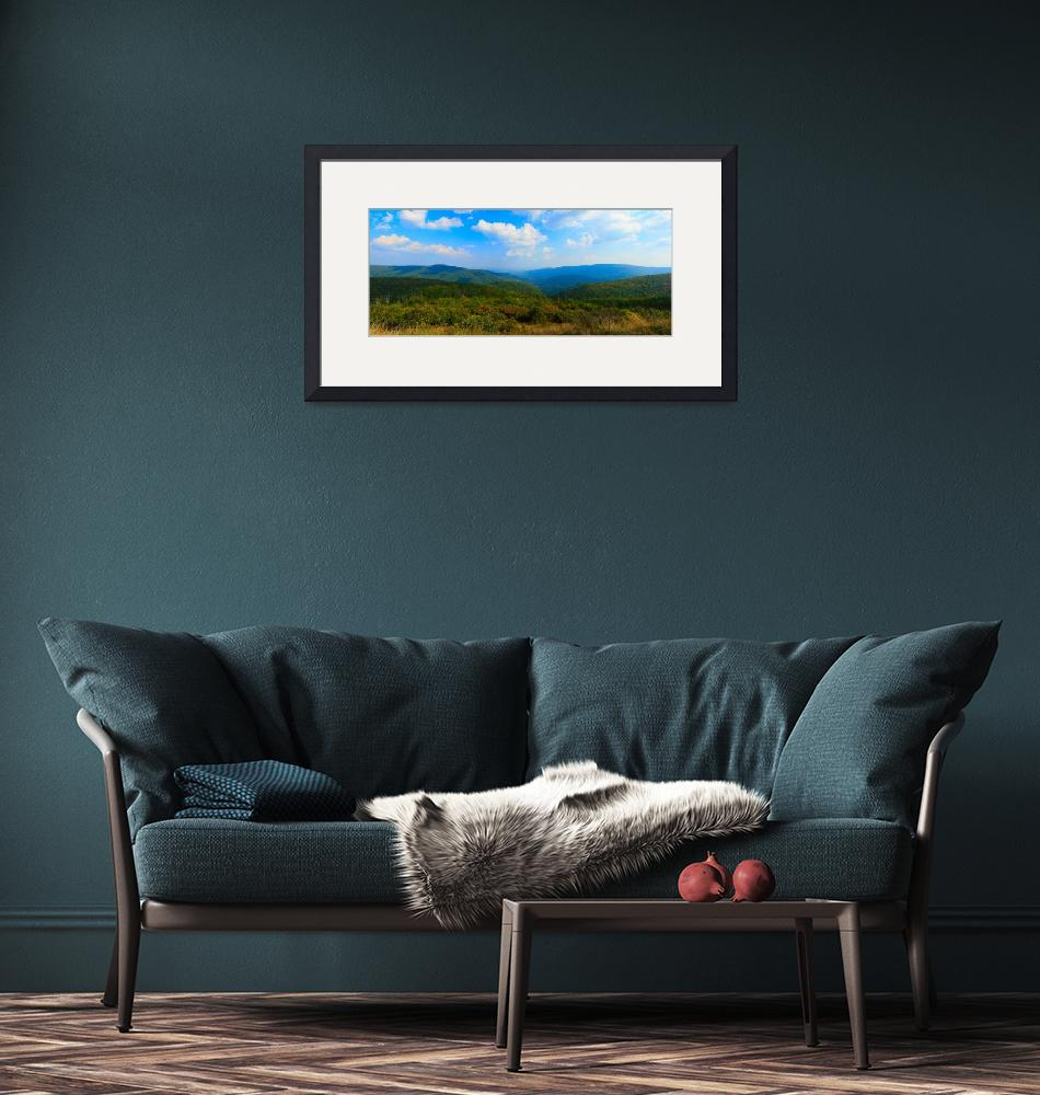 """""""Skyline Drive Panorama Rich Colors""""  (2008) by brianyoung81"""