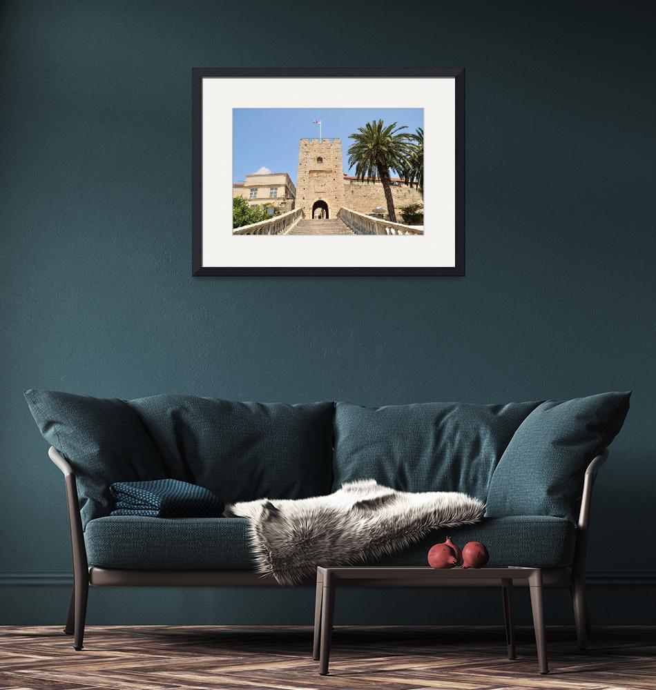 """""""Tower with entrance to the old town. Korcula""""  (2013) by creative_photography"""