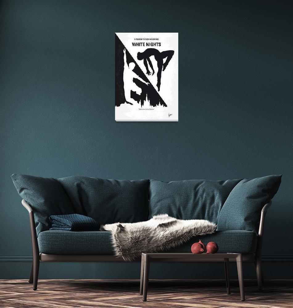 """No554 My White Nights minimal movie poster""  by Chungkong"