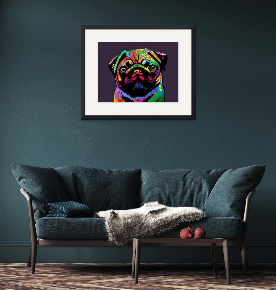 """Pug Dog""  (2011) by ModernArtPrints"