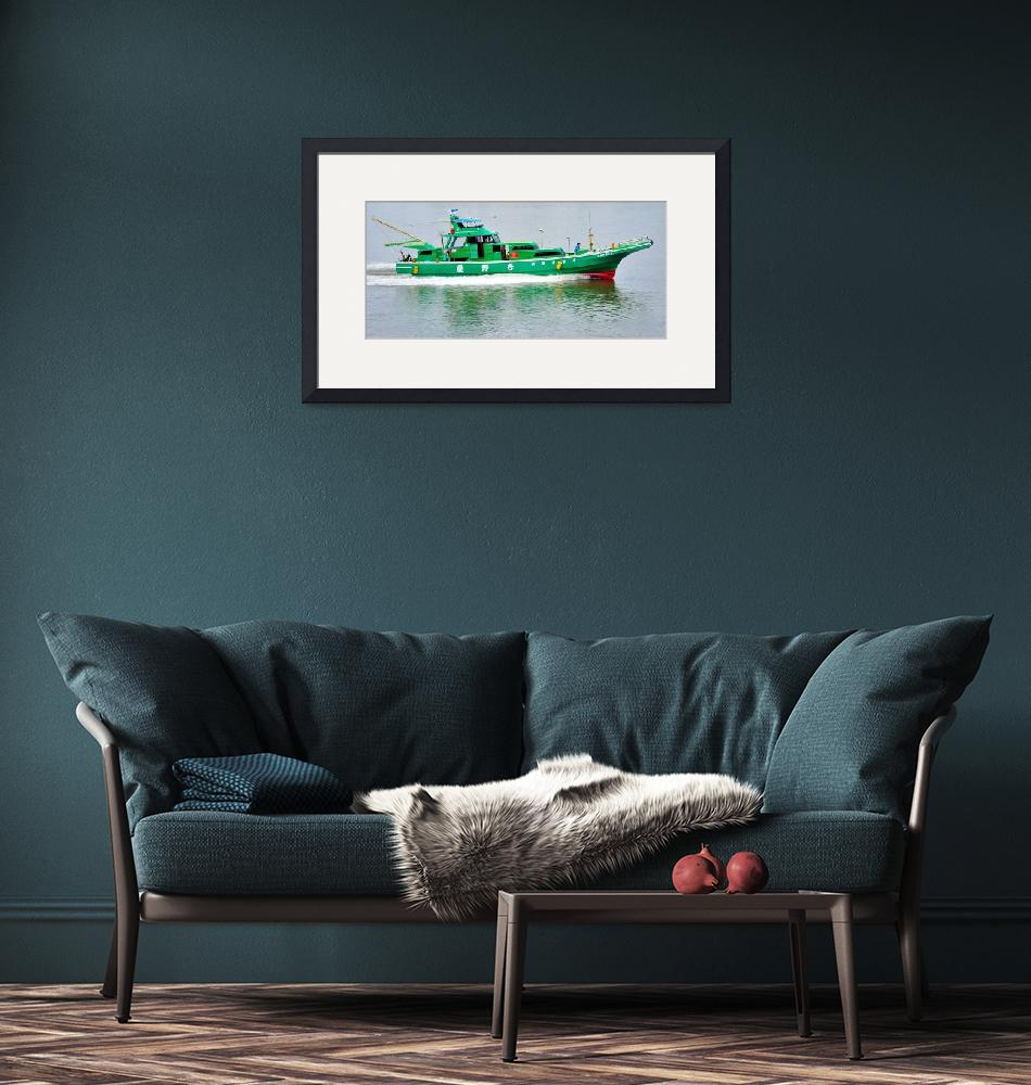 """""""Modern Japanese Fishing Boat""""  (2012) by JoaoPonces"""