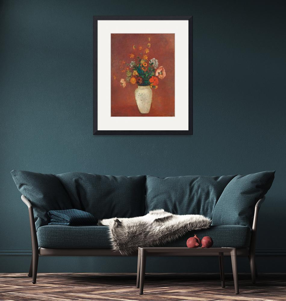 """""""Bouquet in a Chinese Vase by Odilon Redon""""  by FineArtClassics"""