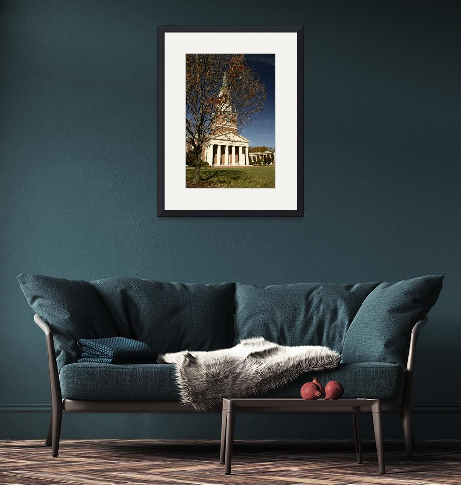 """""""Wait Chapel & The Quad, Wake Forest University"""" by fineartphoto"""