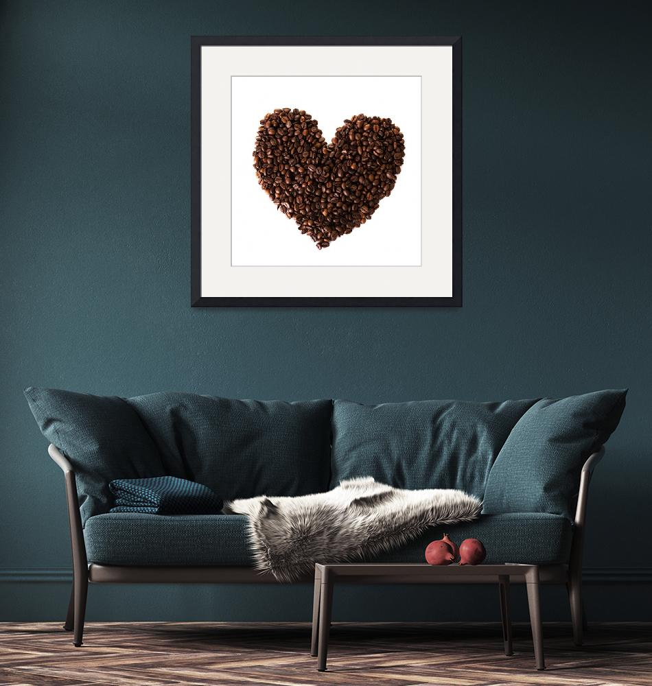 """Heart from coffee beans""  by Piotr_Marcinski"