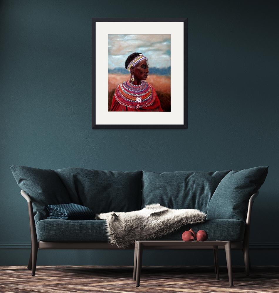 """Samburu Woman""  (2008) by CarolMcCarty"