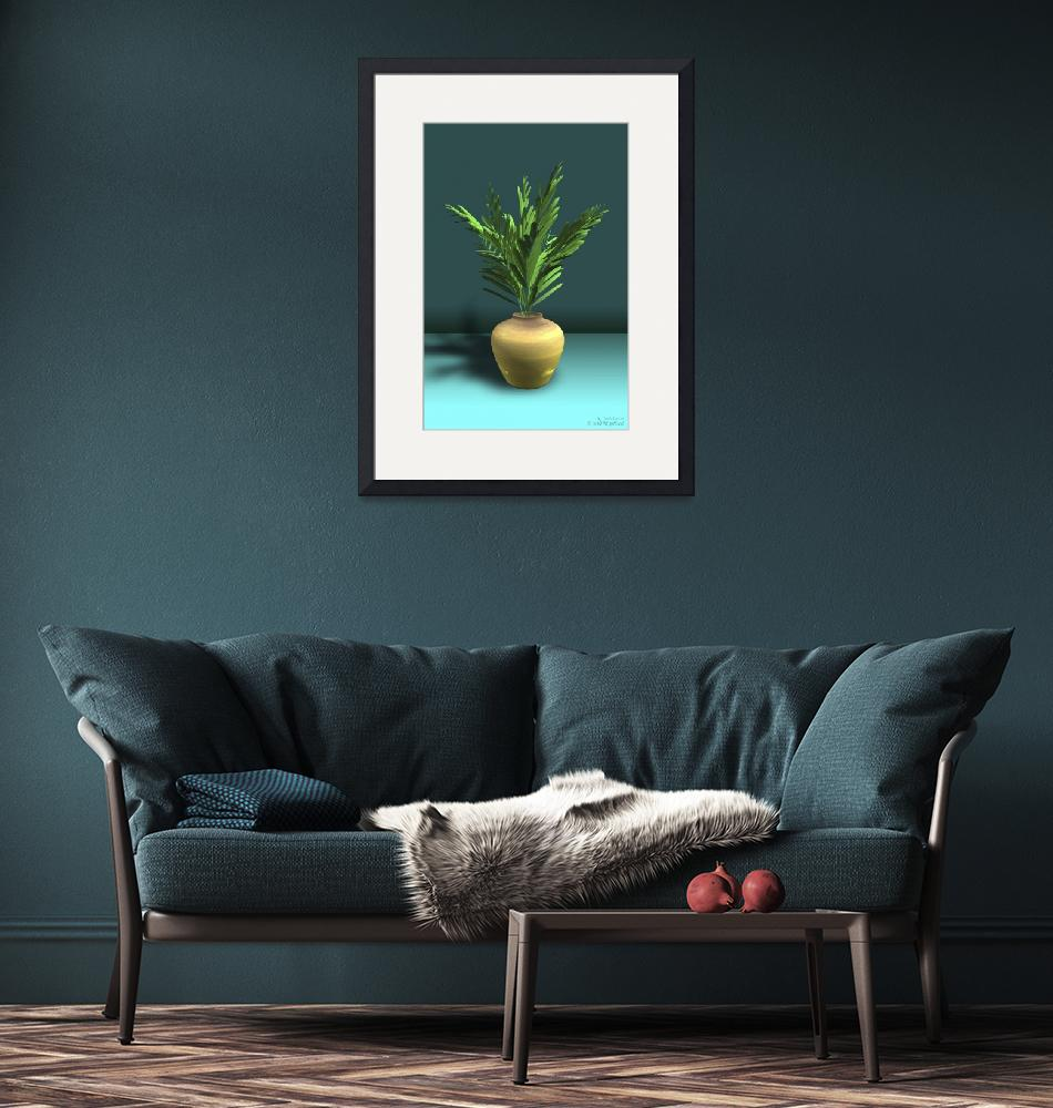 """""""Potted Plant Deco - 3D Model""""  (2011) by WallArtDeco"""