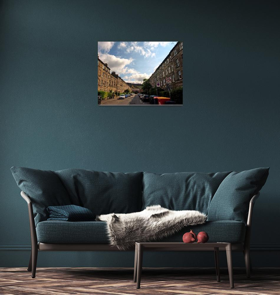 """Street in Edinburgh, Scotland""  (2013) by Wintercreeks"