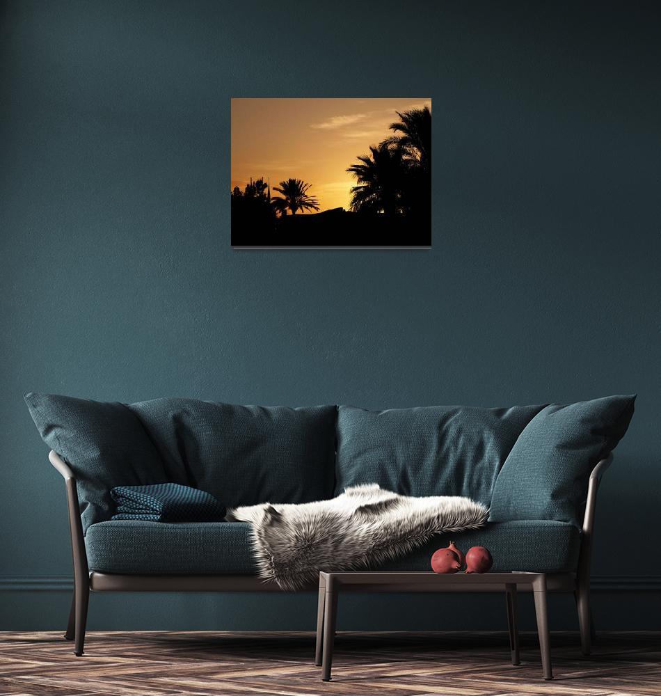 """Tunisian Sunset""  (2007) by rayjacque"