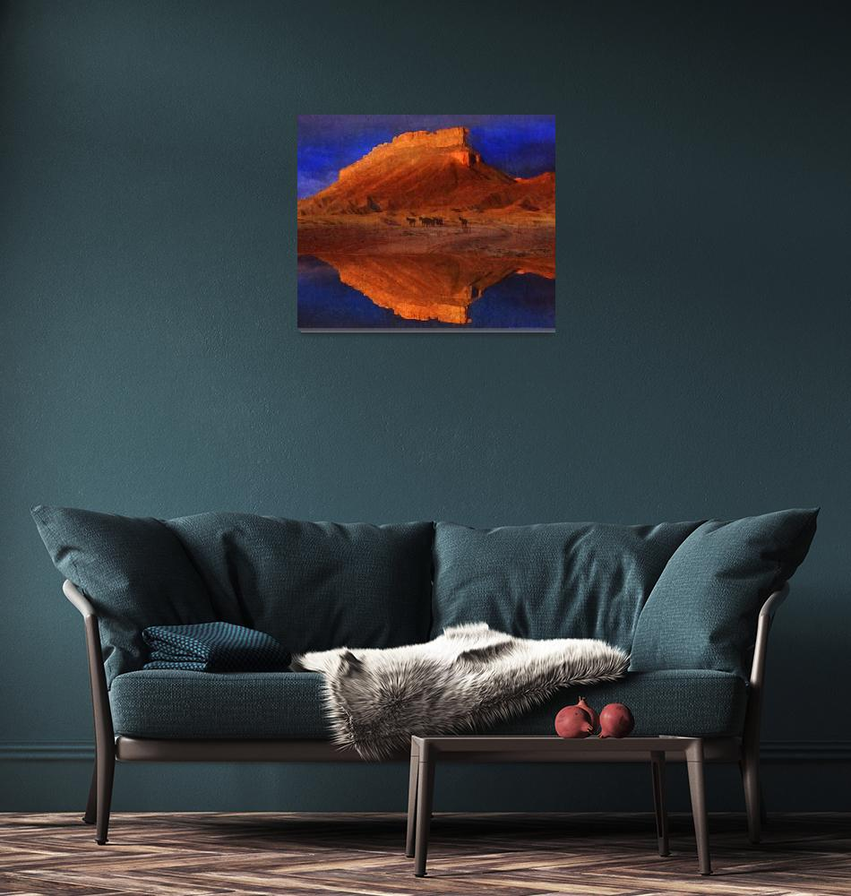 """""""reflections at miner butte""""  (2014) by rchristophervest"""