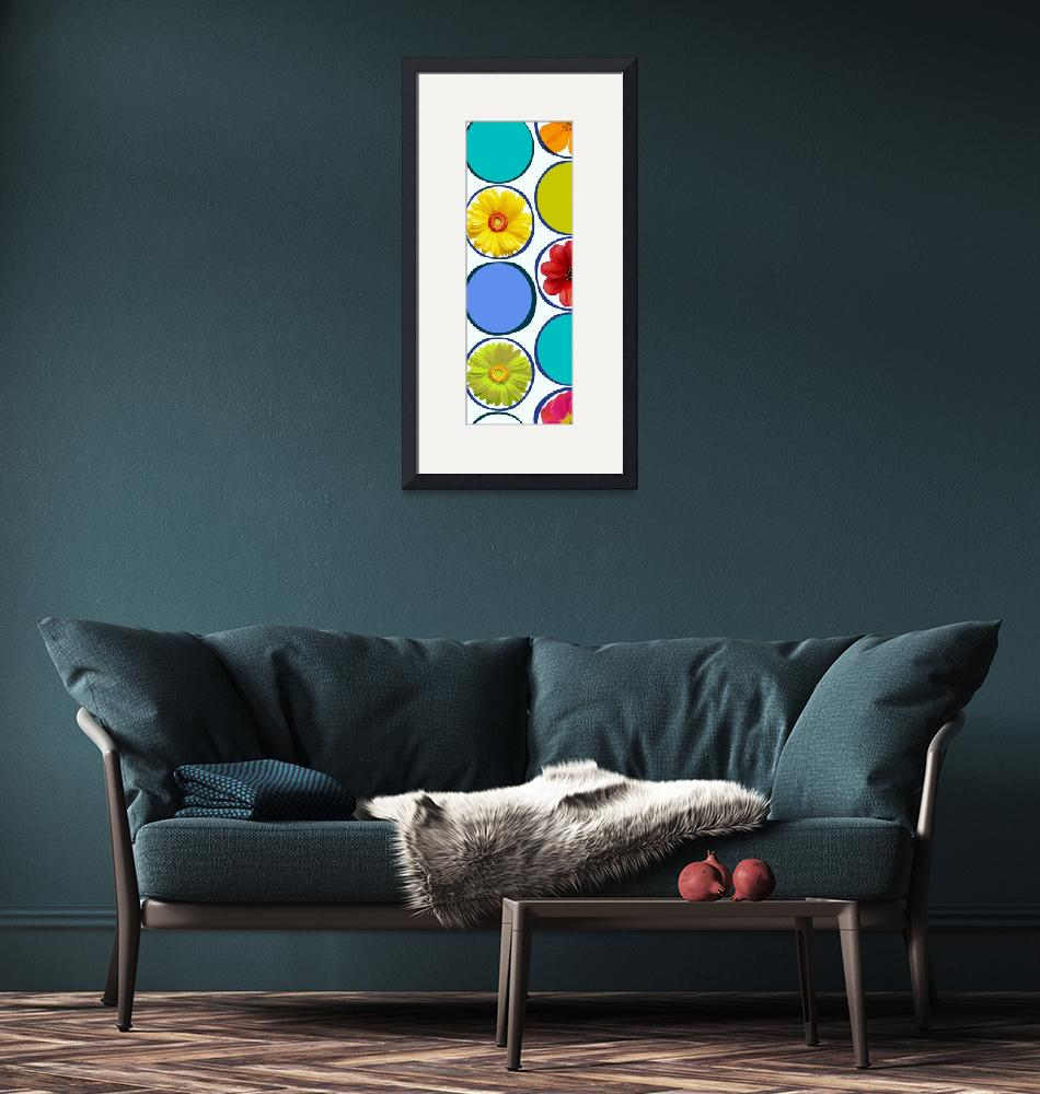 """""""ORL-2121-1 Circle patern with flowers 30X86 2""""  by Aneri"""