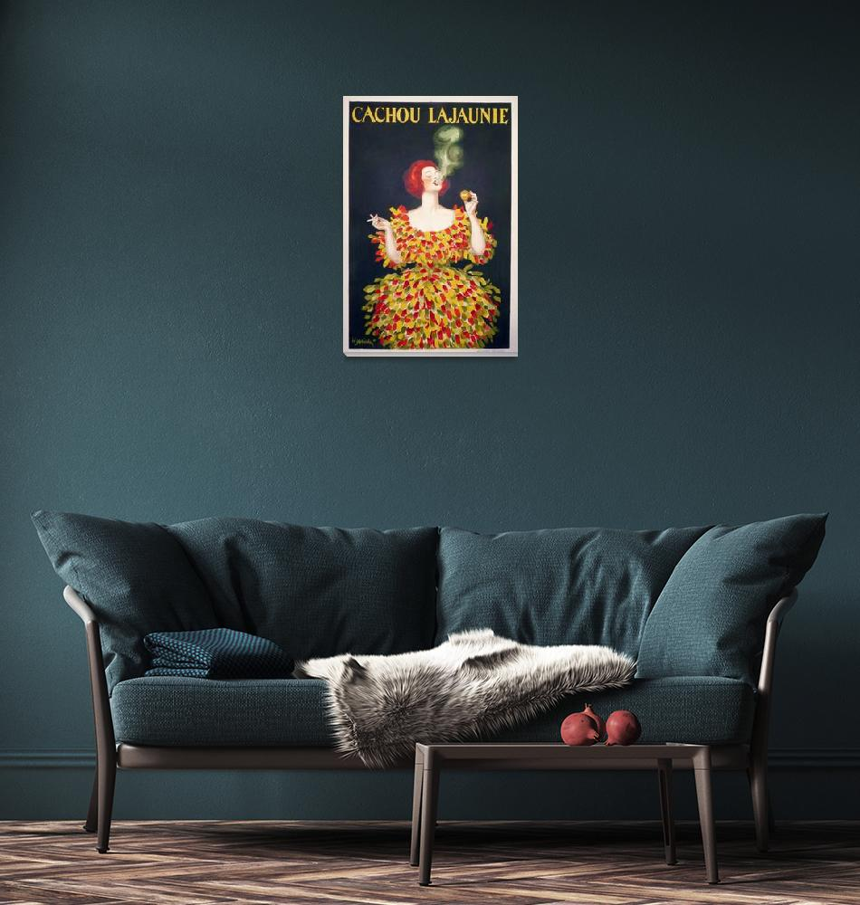 """""""Cachou Lajaunie by Cappiello Vintage Poster"""" by FineArtClassics"""