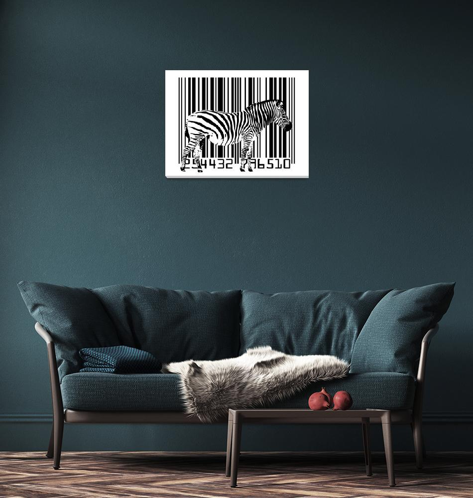 """Zebra Barcode""  (2009) by ModernArtPrints"