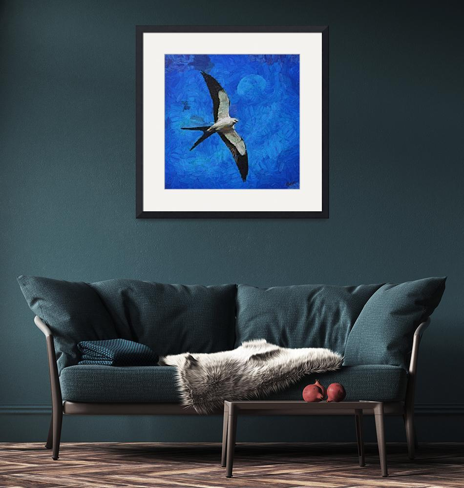 """""""A swallow and the moon""""  by DragicaMickiFortuna"""