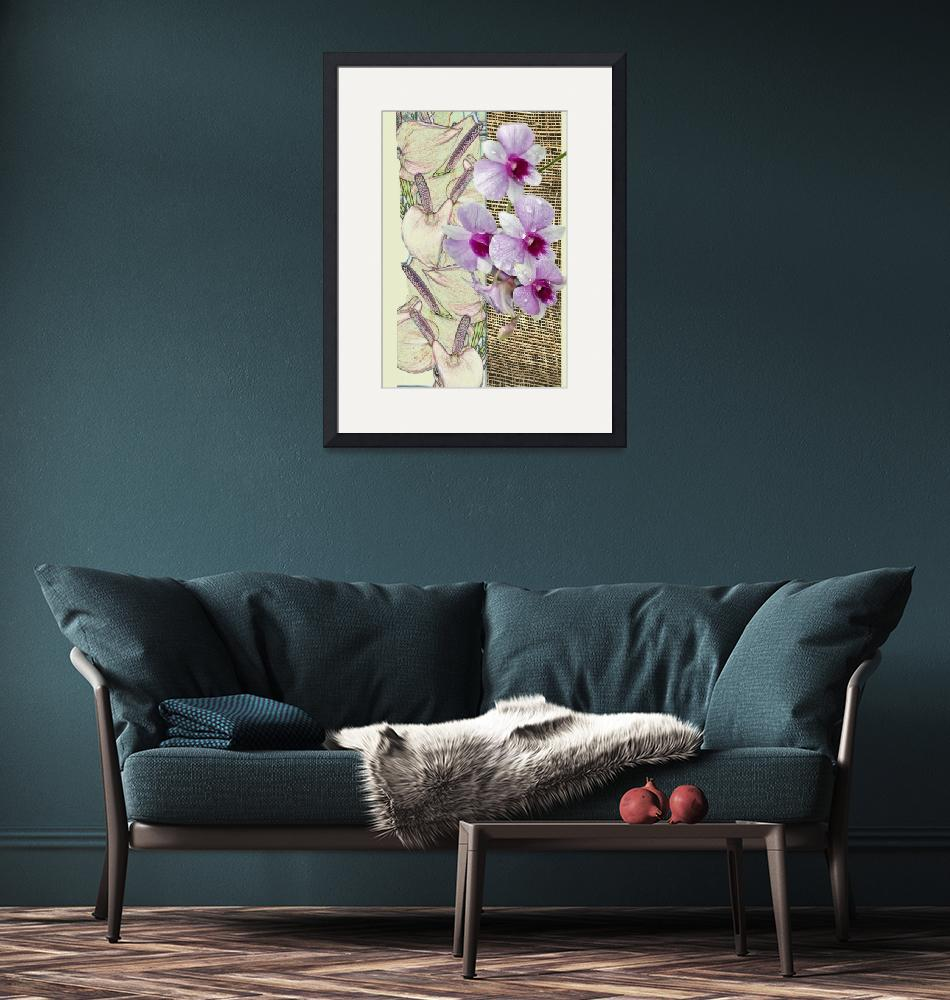 """""""Orchids on a grid""""  (2010) by milikArt"""