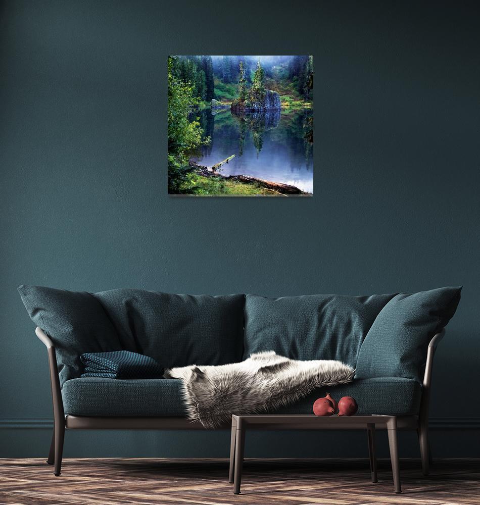 """Reflections, Flapjack Lakes, Washington""  (1994) by donnjones"