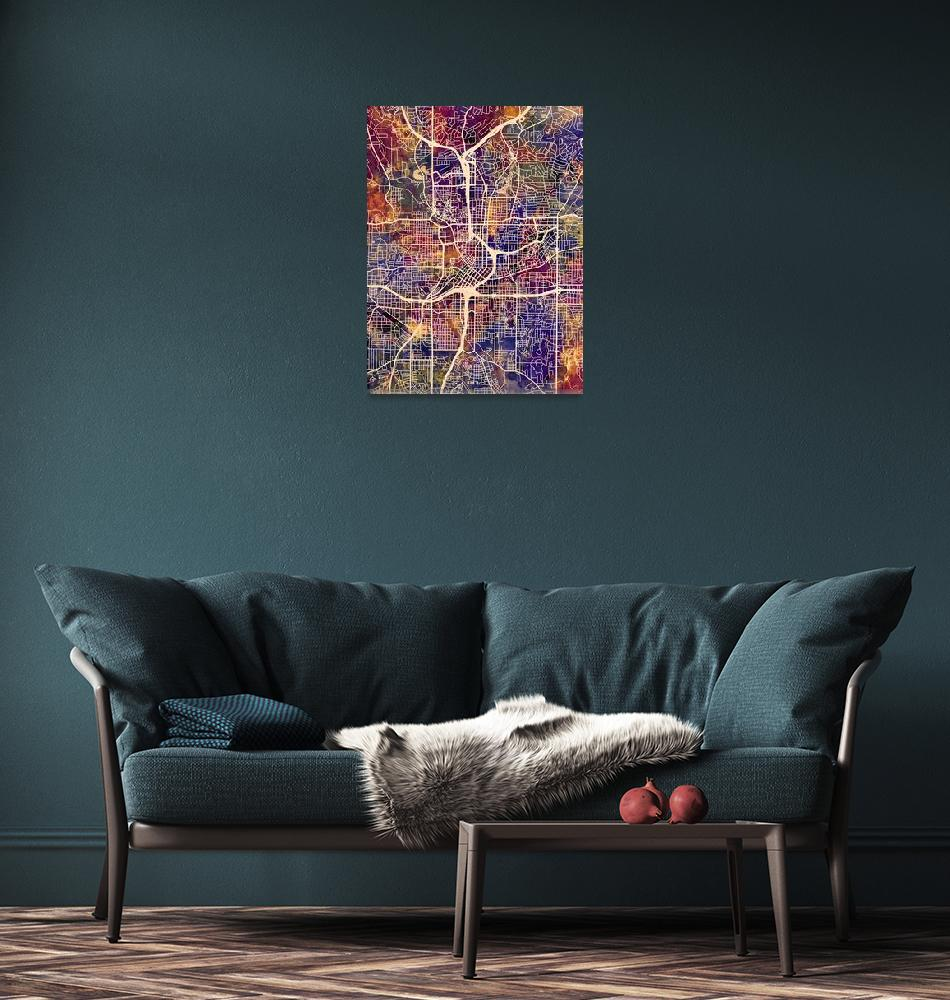 """Atlanta Georgia City Map""  (2015) by ModernArtPrints"