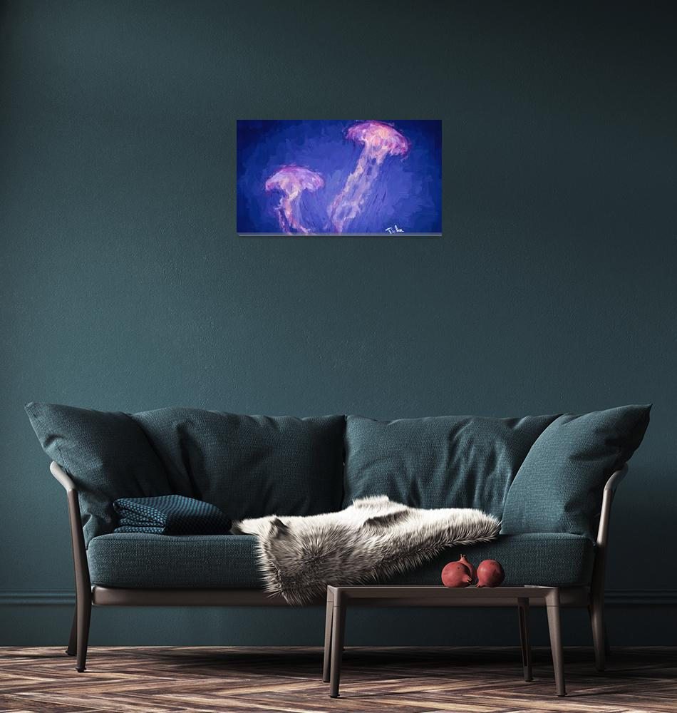 """pink jellyfish""  by ArtbySachse"