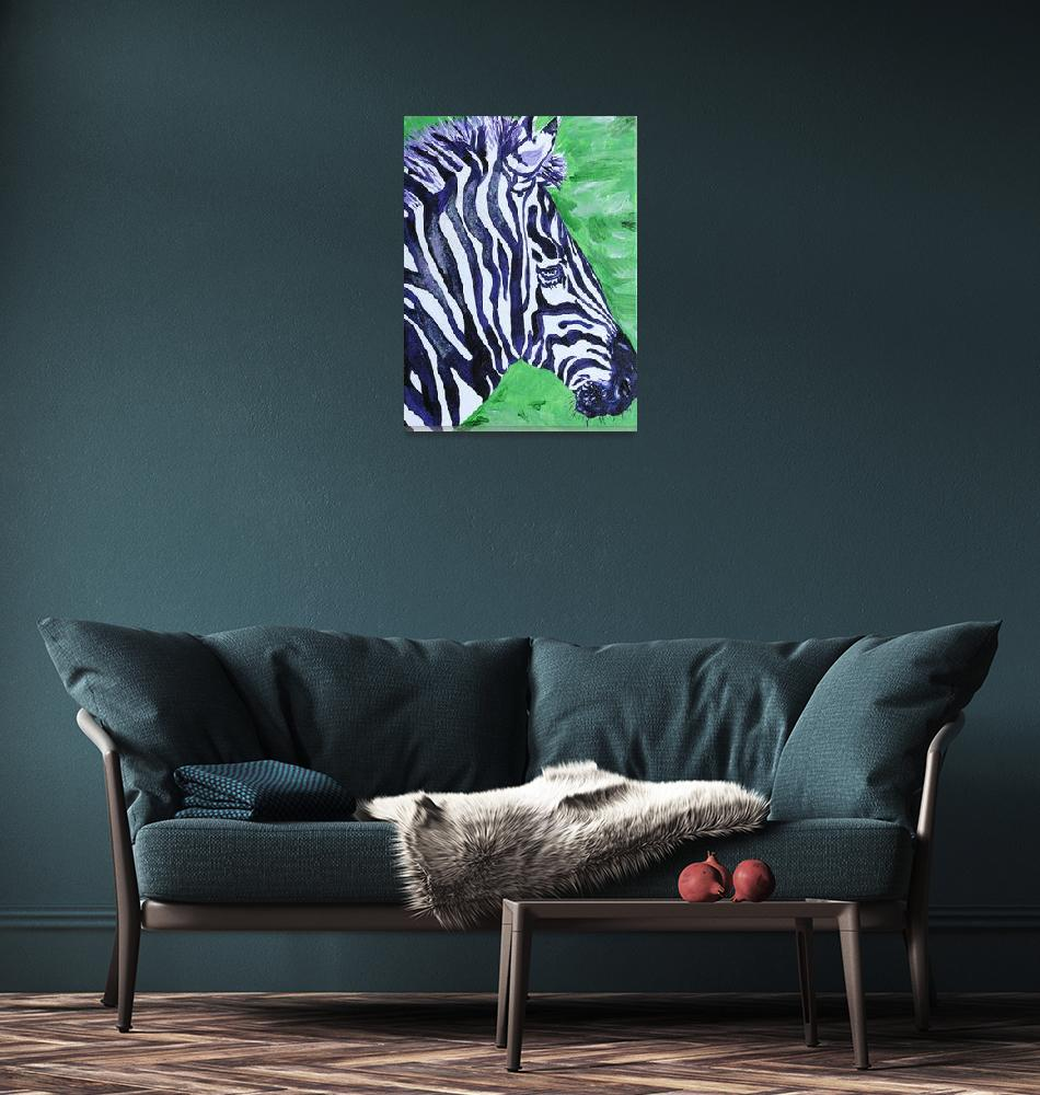 """FREEDOM THE ZEBRA""  (2008) by AngelaUngren"