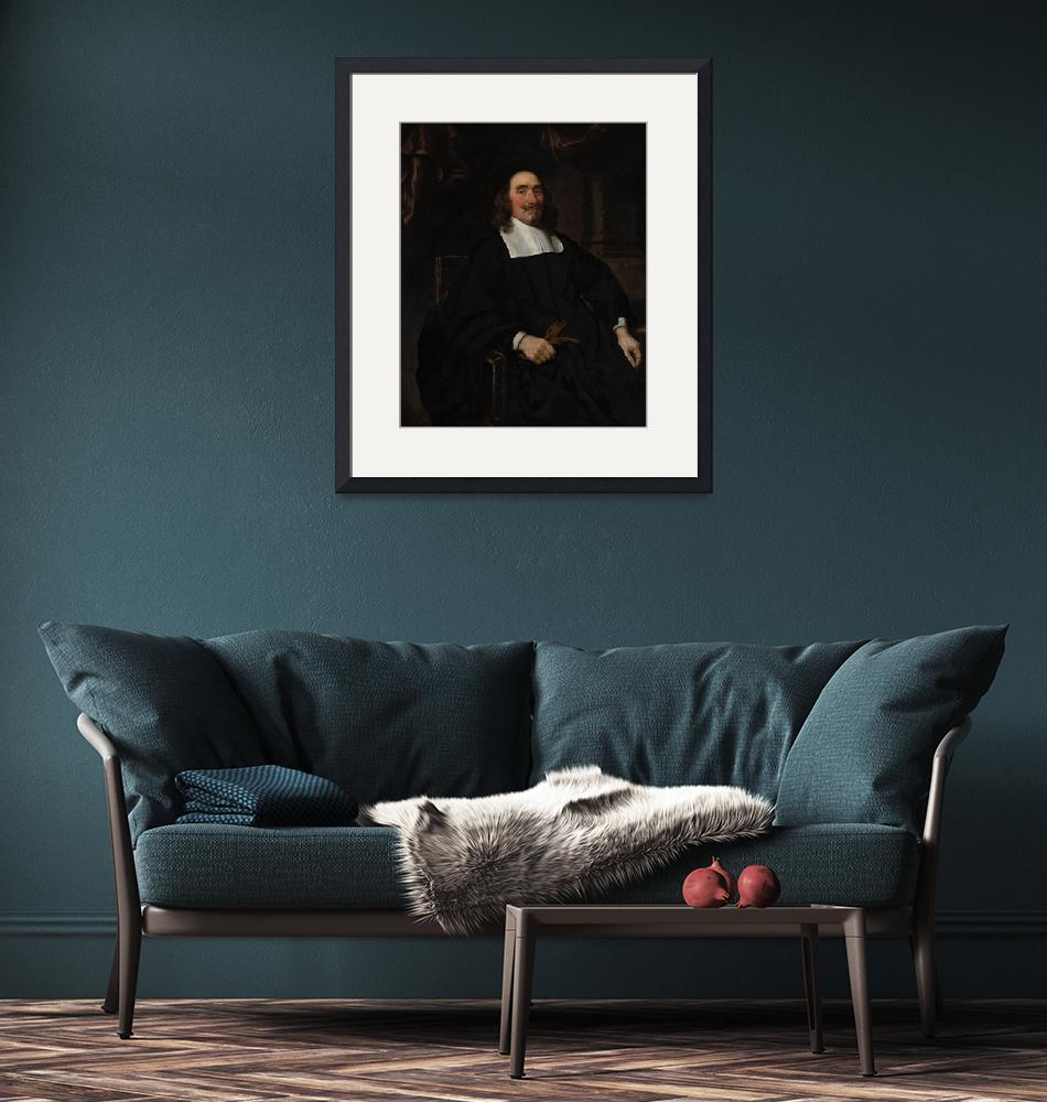 """""""Nicolaes Maes~Portrait of a Gentleman""""  by Old_master"""