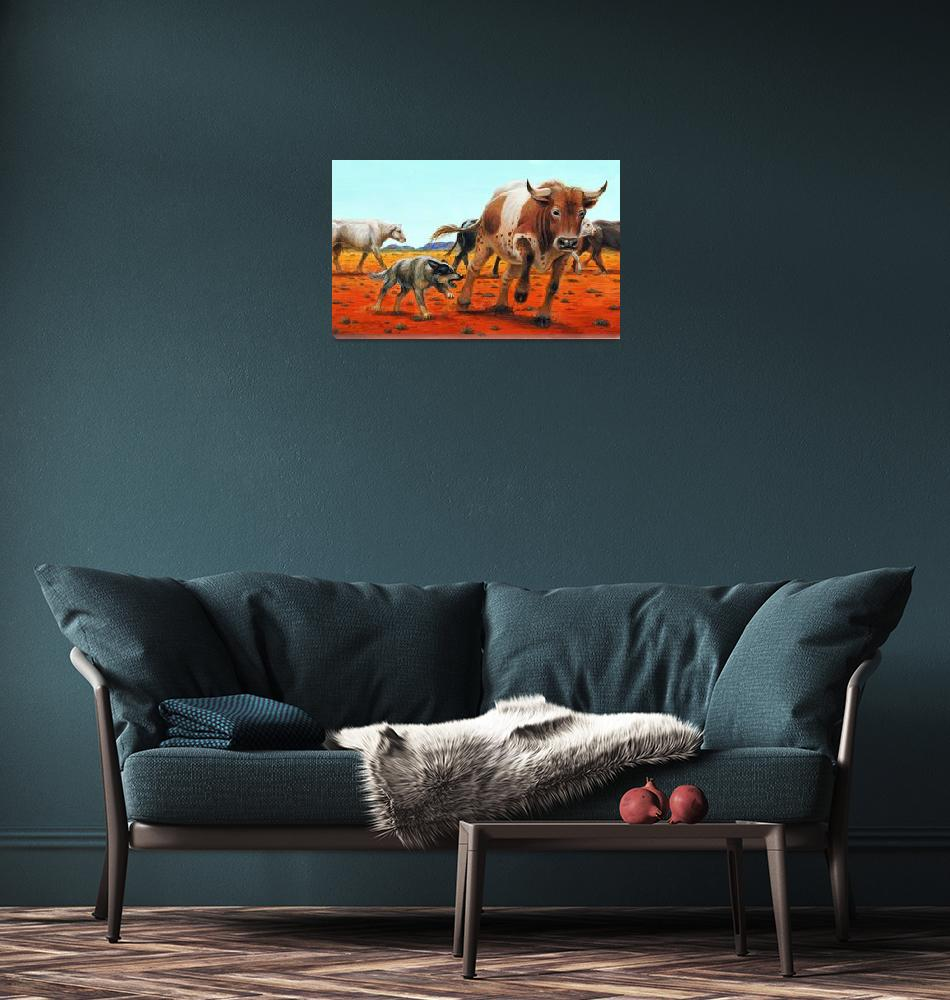 """Australian Cattle Dog""  (2007) by jacksby"