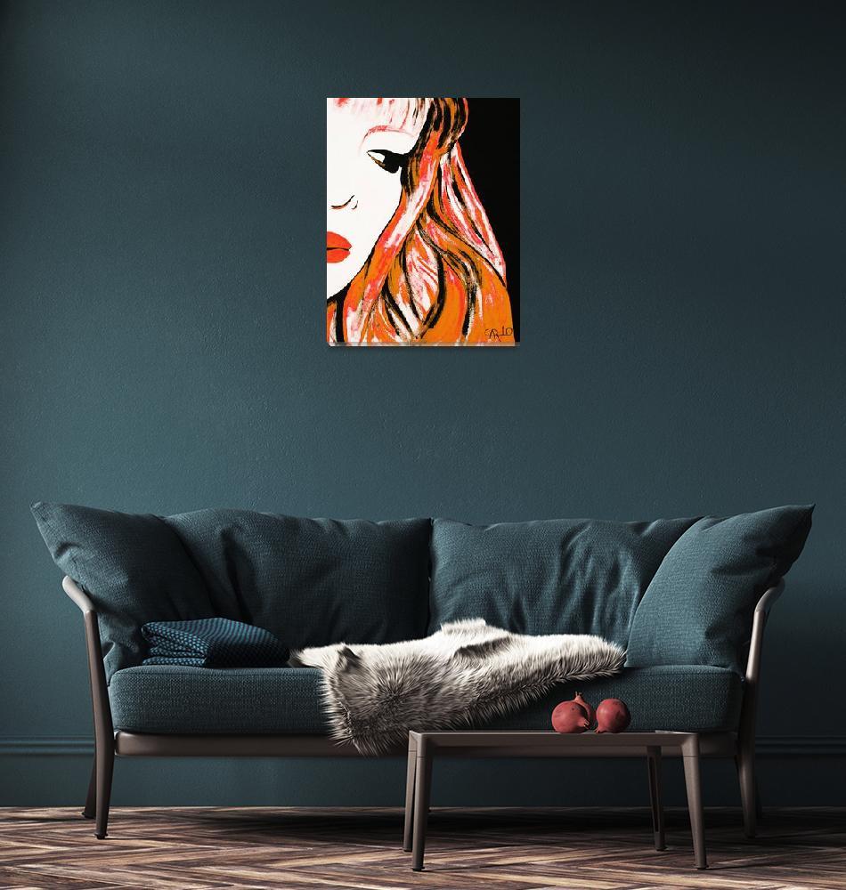 """""""Orange cartoon 1""""  (2010) by camilarosa"""