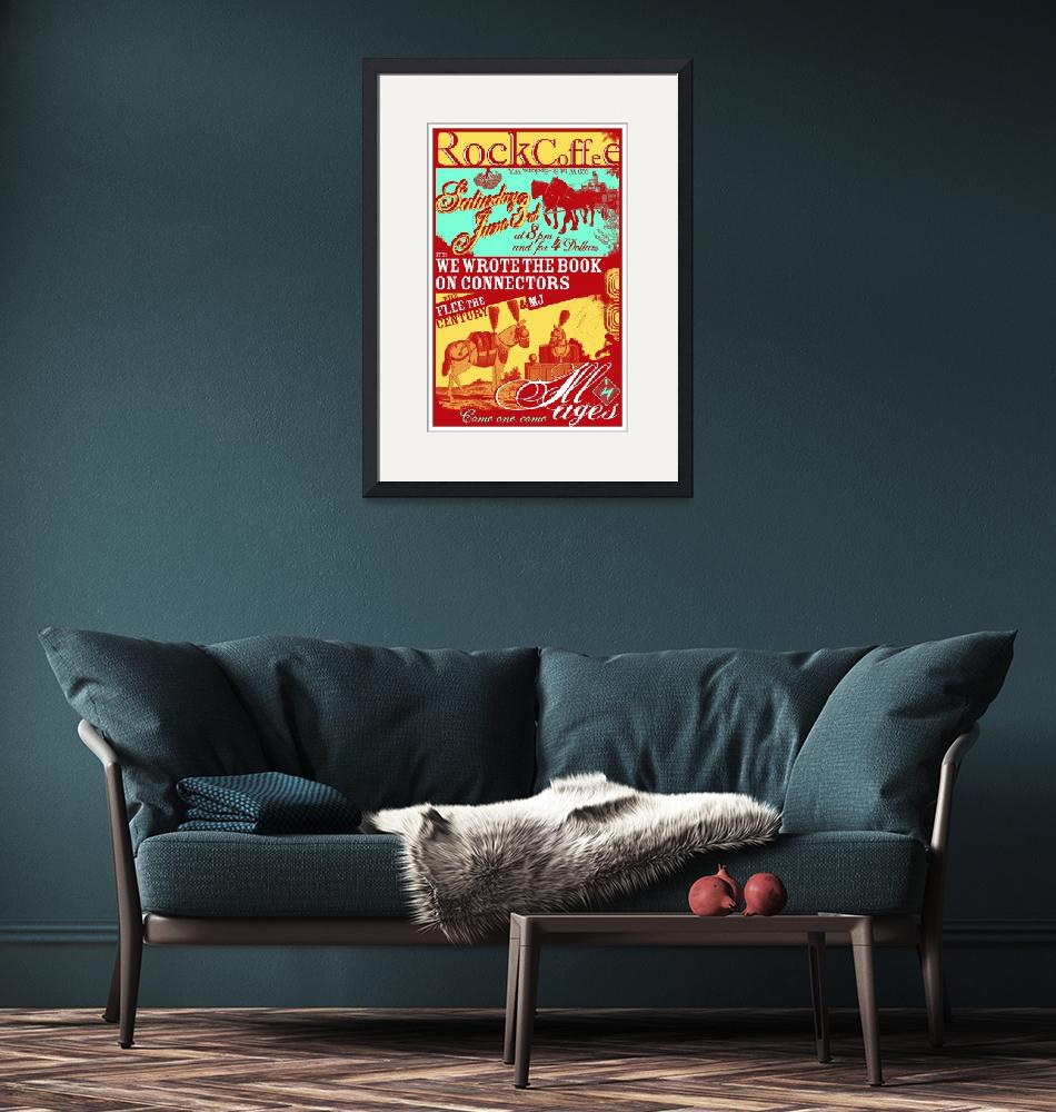 """""""Rock Coffee 060306 Gig Poster""""  by nifty"""