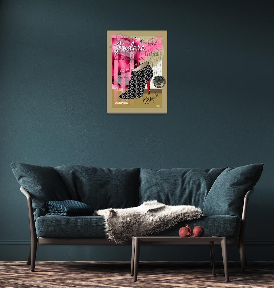 """""""Stylish French Stiletto Collage (light)""""  (2010) by CherylDaniels"""