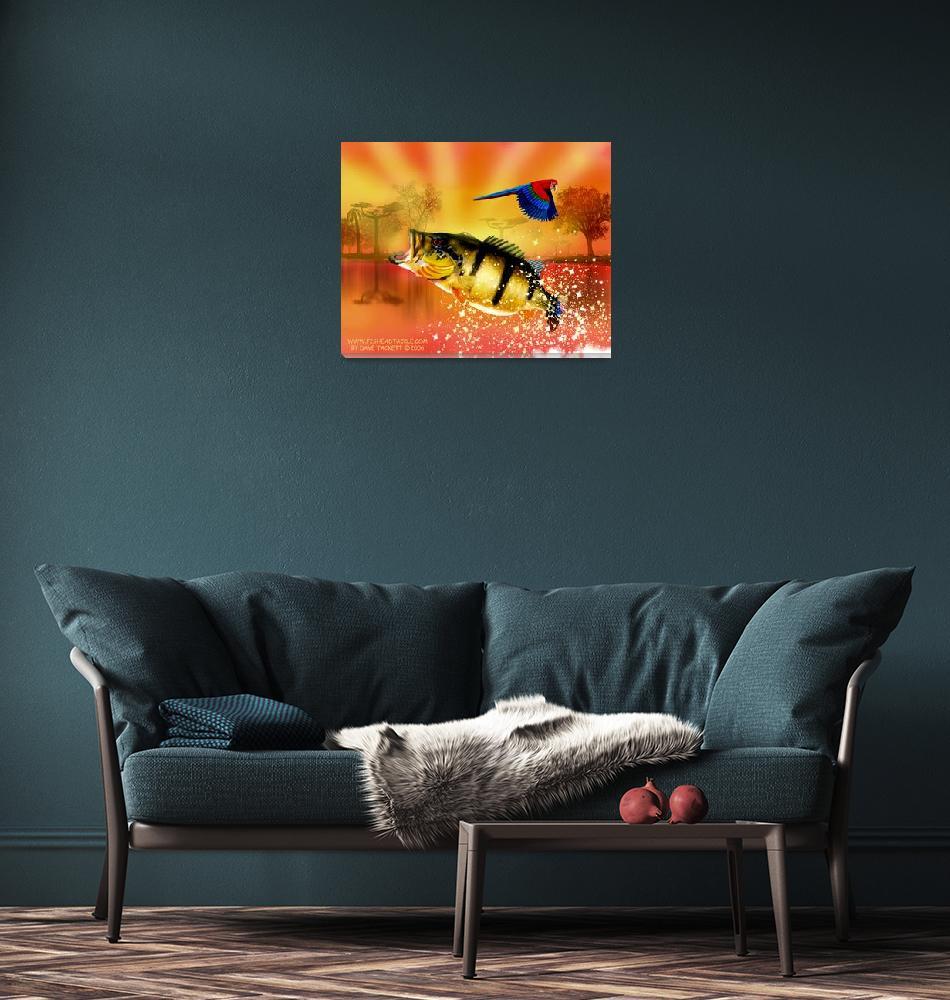 """Orange Scene""  (2008) by fishead"