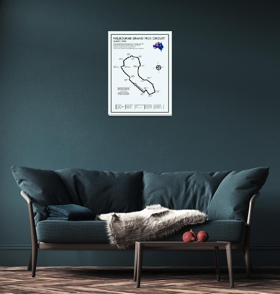 """Melbourne Grand Prix Circuit""  by mark-rogan"