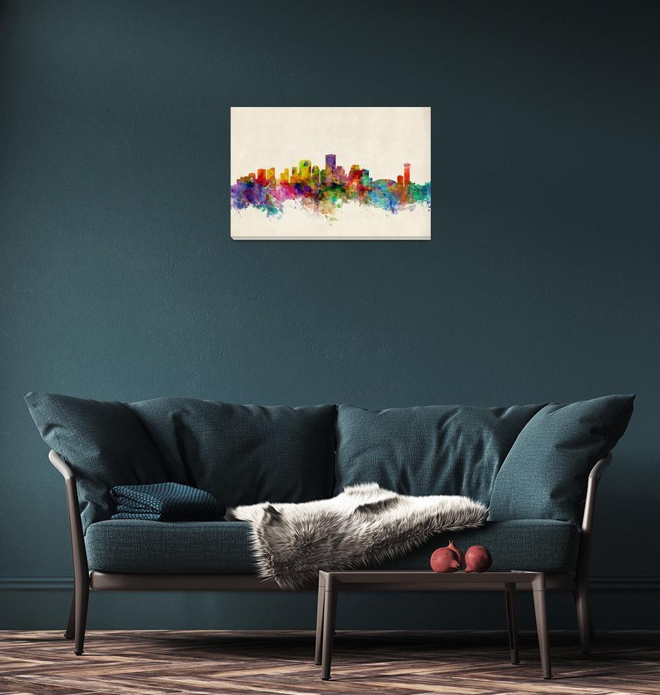 """New Orleans Louisiana Skyline""  (2013) by ModernArtPrints"