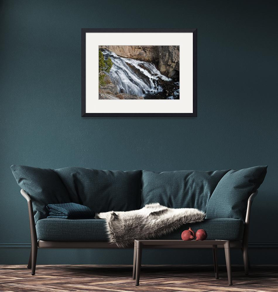 """Gibbon Falls at Yellowstone""  by North22Gallery"