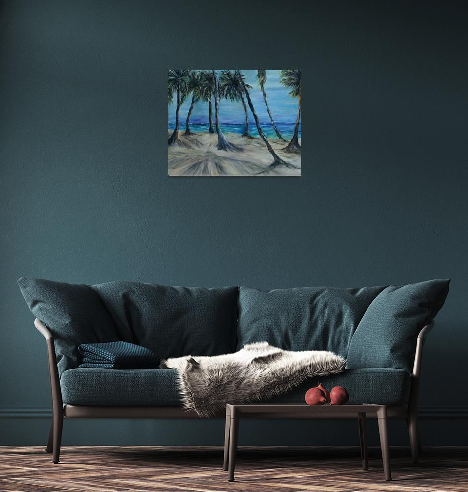 """""""Palm trees on the windy side.""""  (2009) by artistamy"""