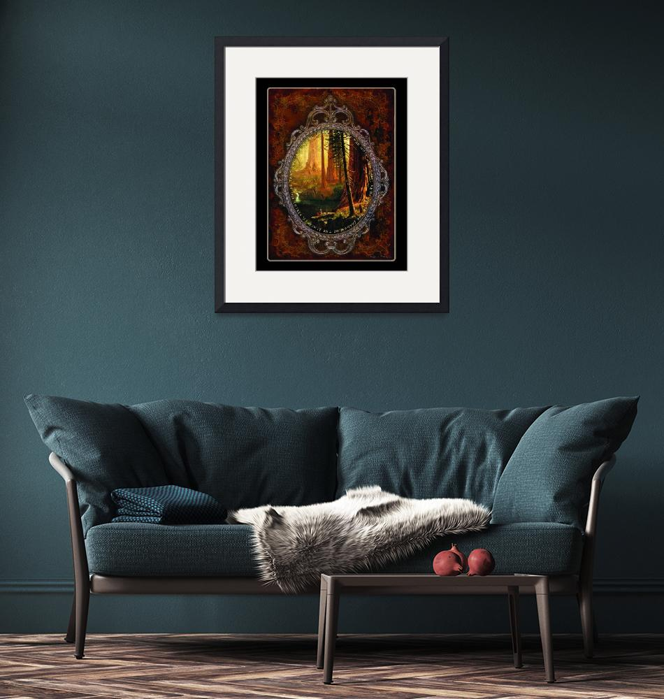 """""""Fairy Tale Redwoods Poster""""  (2016) by WAGlacierGraphics"""