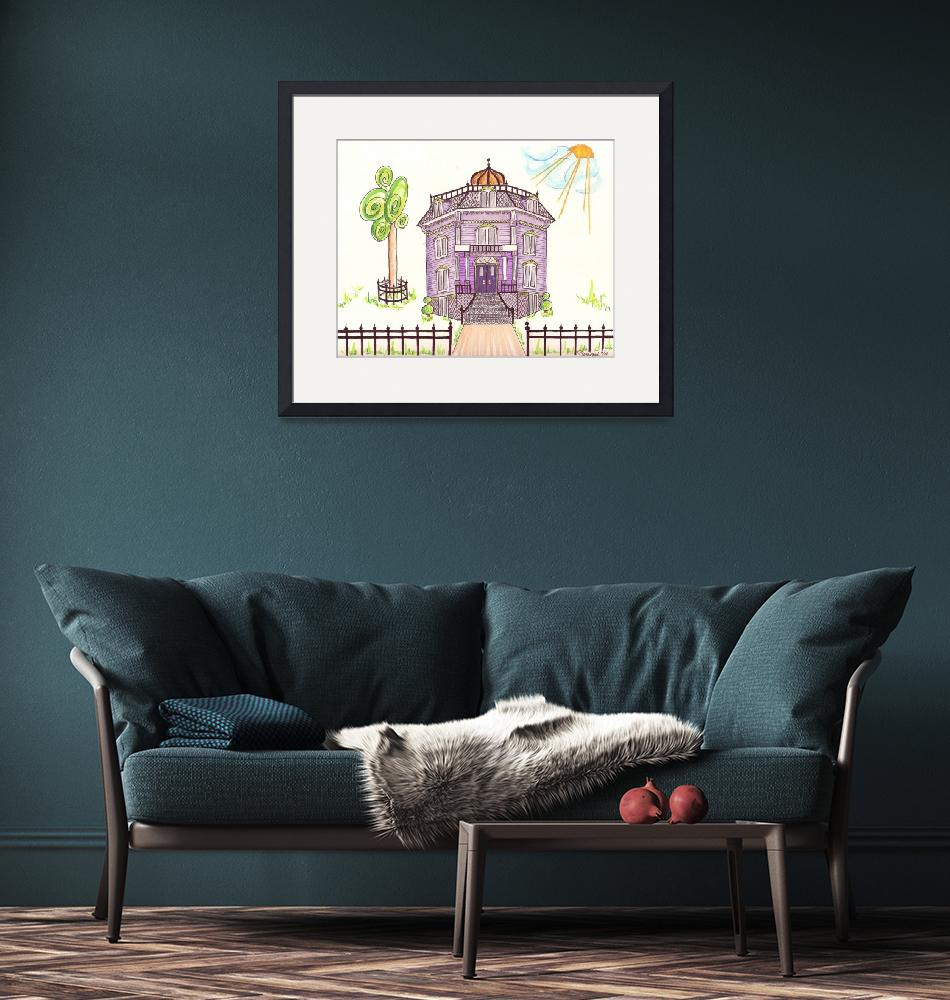 """Victorian House in Lavender""  (2014) by JayneSomogy"