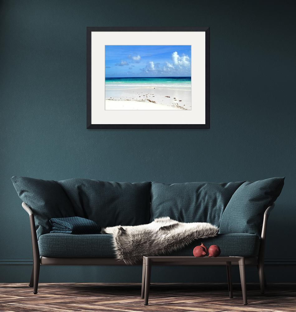 """Walking the Beach, Bahamas""  by paulyworksfineart"